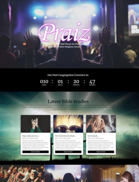Divi Church Theme Layout