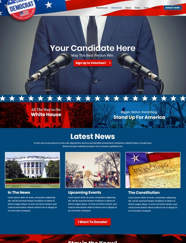 Political Divi Theme Layout