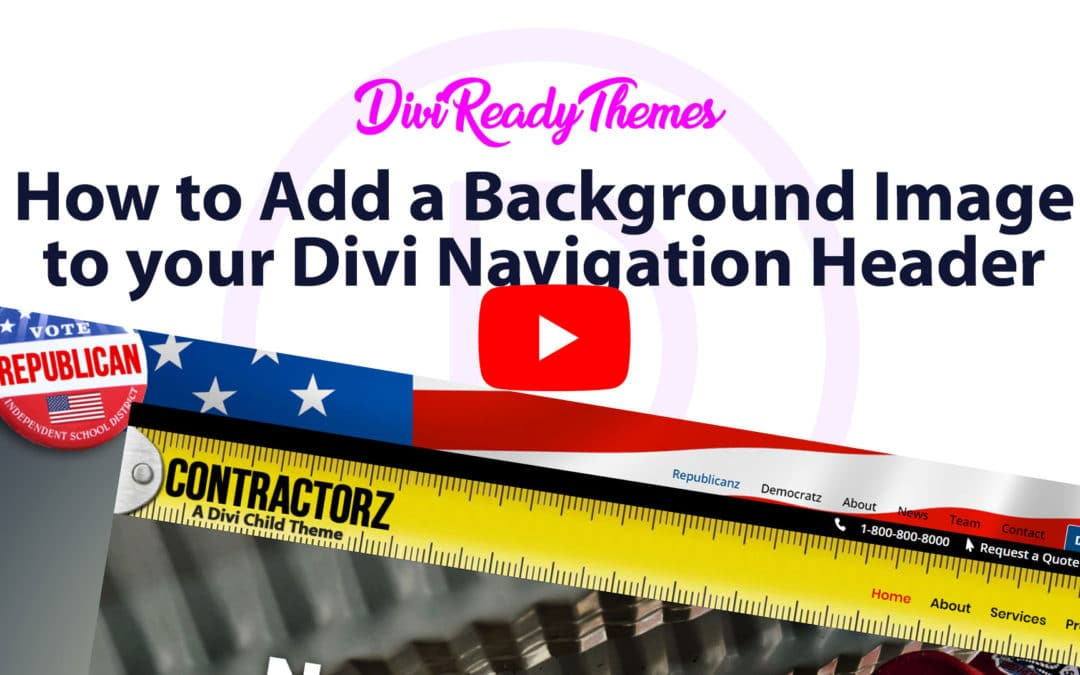 How to Add a Background Image to Your Divi Navigation Header