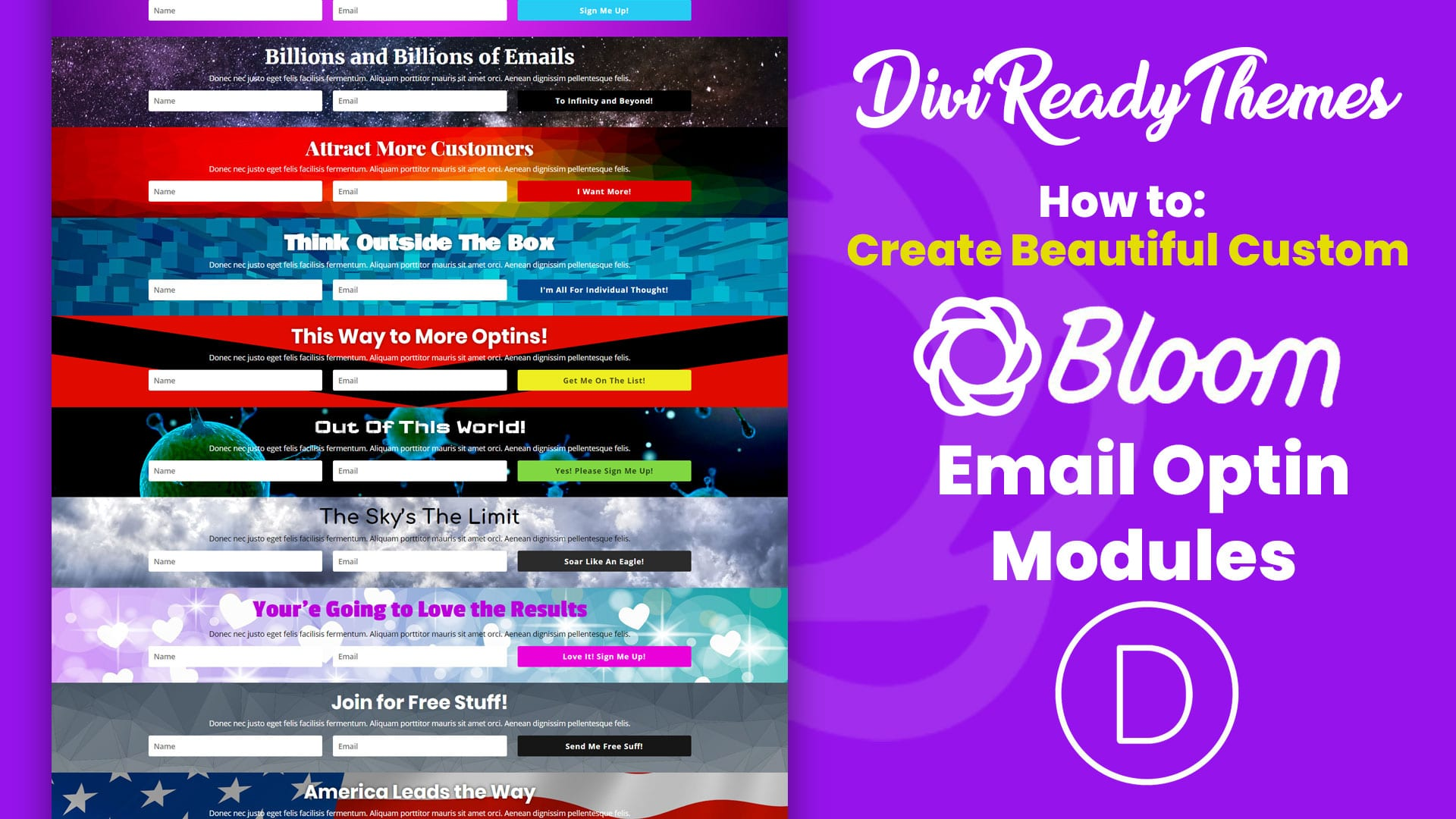 How to Create Full-Width Bloom Email Optin Modules in Divi