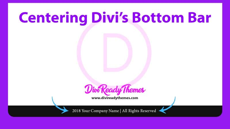 Centering Divi's Bottom Bar