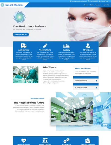 medical divi child theme