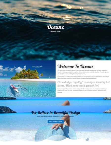 Divi Child Theme Travel Vacation