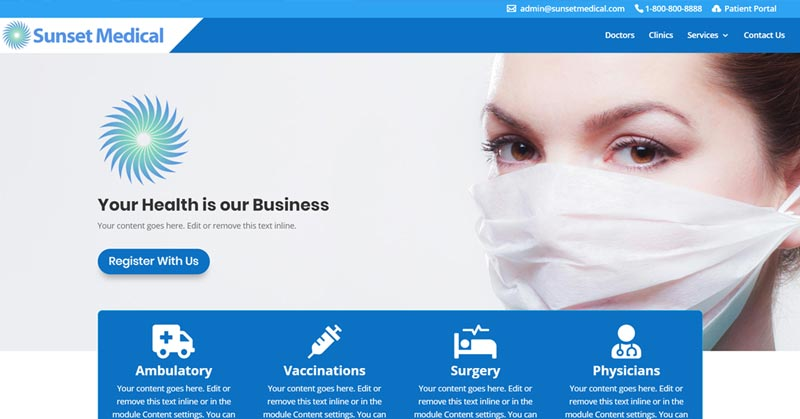 MEDz Medical Divi Child Theme & Doctors Divi Layout