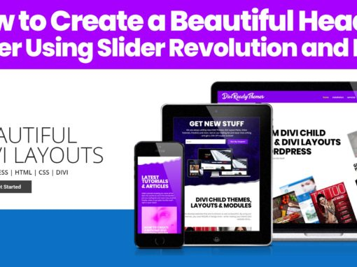 Slider Revolution Divi