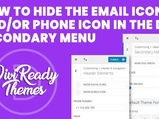How to Hide the Email Icon and/or Phone Icon in the Divi Secondary Menu